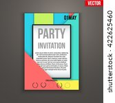 design of template invitation... | Shutterstock .eps vector #422625460