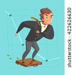 businessman in a suit. cartoon... | Shutterstock .eps vector #422626630