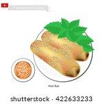 vietnamese cuisine  nem ran or... | Shutterstock .eps vector #422633233