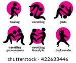 boxing  wrestling  wrestling... | Shutterstock .eps vector #422633446