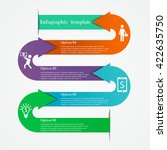 arrows infographic template in... | Shutterstock .eps vector #422635750