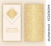 invitation  cards with ethnic... | Shutterstock .eps vector #422636344