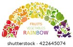 fruits and vegetables.... | Shutterstock .eps vector #422645074