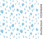 blue flowers watercolor... | Shutterstock .eps vector #422646646