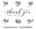 thank you   card  background ... | Shutterstock .eps vector #422648860