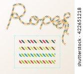 rope brush braid for decoration ... | Shutterstock .eps vector #422651218