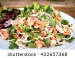 thai spicy minced pork salad   | Shutterstock . vector #422657368