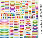 big color ribbons set  isolated ... | Shutterstock .eps vector #422662000