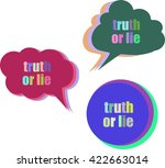 truth or lie. set of stickers ... | Shutterstock .eps vector #422663014