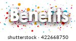benefits paper card with color... | Shutterstock .eps vector #422668750