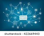 artificial intelligence  ai ... | Shutterstock .eps vector #422669443