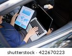 business woman working with... | Shutterstock . vector #422670223
