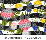 seamless pattern with garden... | Shutterstock .eps vector #422672509