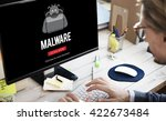 Small photo of Scam Virus Spyware Malware Antivirus Concept