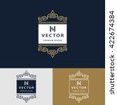 line graphics monogram. elegant ...   Shutterstock .eps vector #422674384