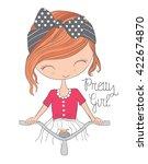 Cute Girl Girl Vector Girl...