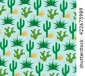desert cactus pattern   Shutterstock .eps vector #422675989