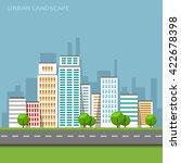 flat business city urban...   Shutterstock .eps vector #422678398