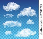 vector transparent clouds set.... | Shutterstock .eps vector #422681209