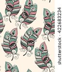 vector seamless pattern with... | Shutterstock .eps vector #422683234