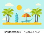 summer vacation by the beach.... | Shutterstock .eps vector #422684710