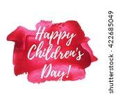 happy children's day holiday ... | Shutterstock .eps vector #422685049