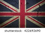 great britain flag on old... | Shutterstock . vector #422692690