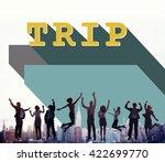 business people achievement... | Shutterstock . vector #422699770