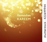 beautiful golden moon  ramadan... | Shutterstock .eps vector #422699944