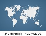 image of a vector world map... | Shutterstock .eps vector #422702308