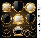 vector medieval golden shields... | Shutterstock .eps vector #422703070