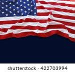 american flag on blue background | Shutterstock . vector #422703994