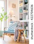 cozy reading corner with... | Shutterstock . vector #422704636