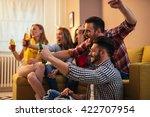 friends enjoying a great... | Shutterstock . vector #422707954