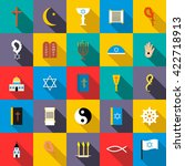 religion icons set | Shutterstock . vector #422718913