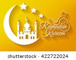 greeting card for islamic holy... | Shutterstock . vector #422722024