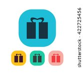 vector illustration of gift icon