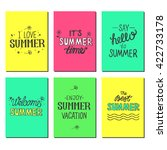 vector bright summer cards.... | Shutterstock .eps vector #422733178