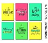 vector bright summer cards.... | Shutterstock .eps vector #422733178