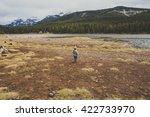 a toddler boy playing outdoor... | Shutterstock . vector #422733970