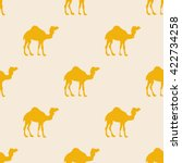 Camel Silhouette Pattern...