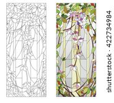 stained glass window with... | Shutterstock .eps vector #422734984
