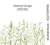 meadow grass seamless border in ... | Shutterstock .eps vector #422735950