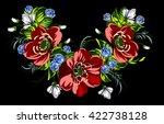 lush flower garland | Shutterstock . vector #422738128