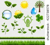 Ecology Symbols Set Isolated ...
