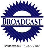 broadcast badge with jean...   Shutterstock .eps vector #422739400