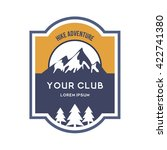 hunting club logo template.... | Shutterstock .eps vector #422741380