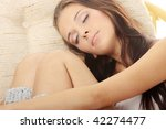 beautiful young woman resting... | Shutterstock . vector #42274477