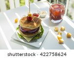 home made potato patties... | Shutterstock . vector #422758624