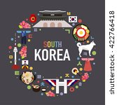 south korea vector object... | Shutterstock .eps vector #422766418